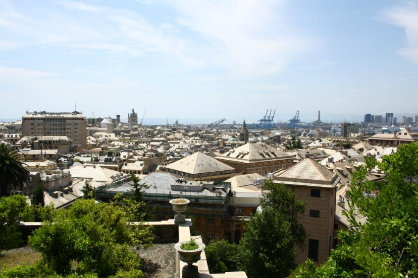 панорамный вид Генуя
