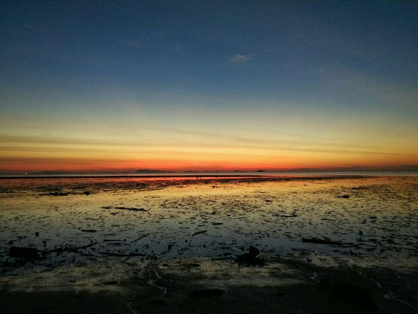 закат на Пангане в Тайланде