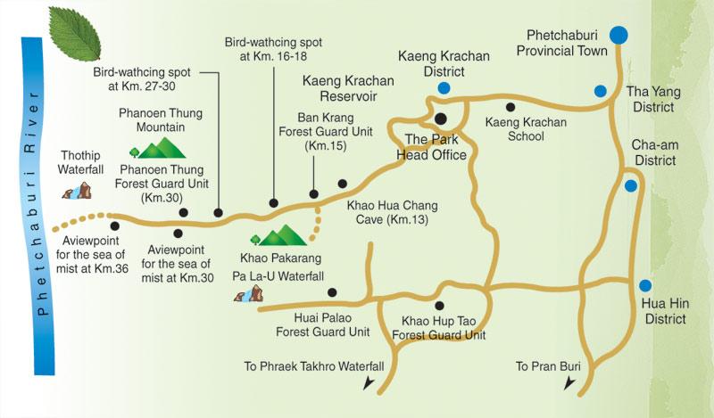 карта каенг крачан