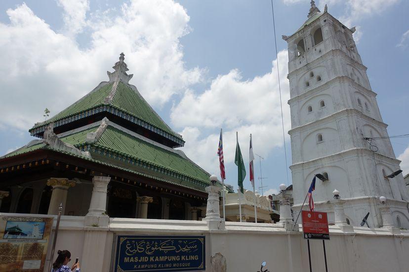 старая мечеть в Малакке Малайзия