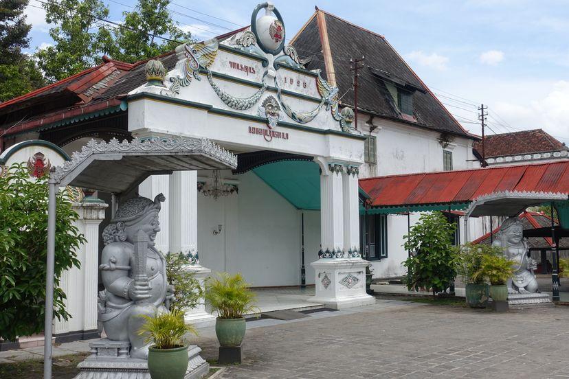 Кратон в Джокьякарта Индонезии