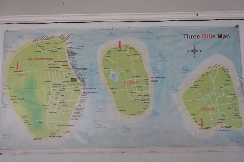 гили острова - карта