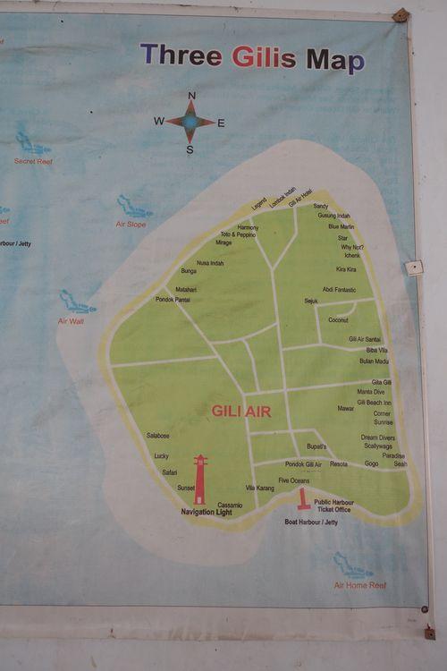 Гили Эйр - карта