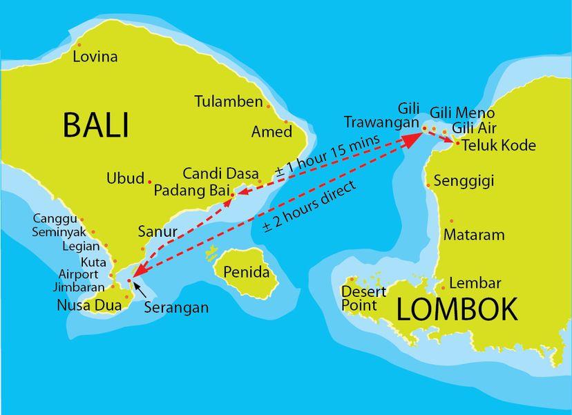 На Бали на скоростной лодке