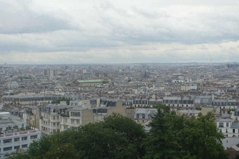 вид на Париж с Монмартр