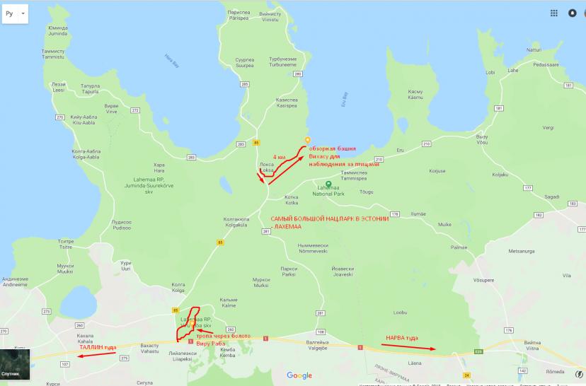 маршрут по Лахемаа Эстония