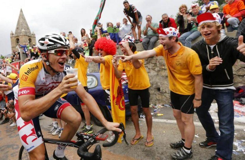 бельгийский велосипедист с пивком