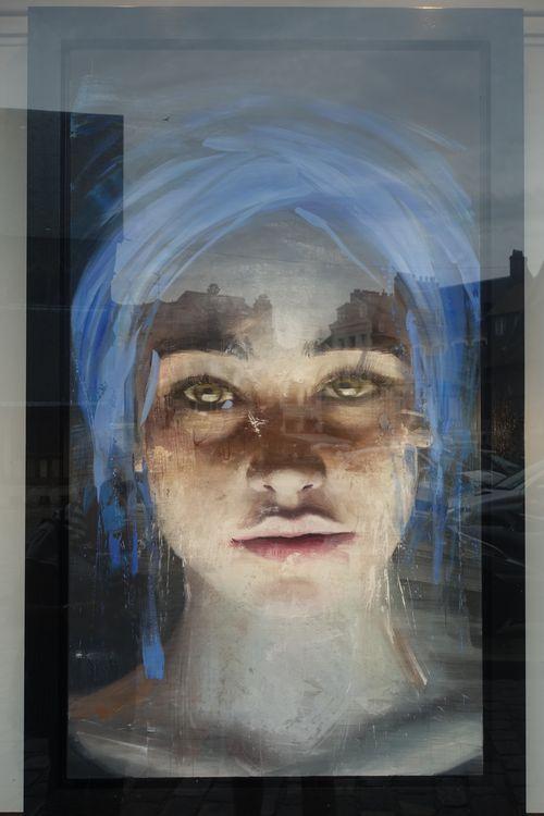 картина девушки в Онфлер