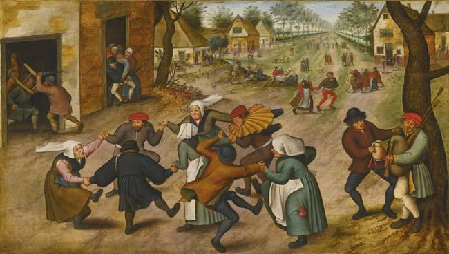 брейгель - картина танец