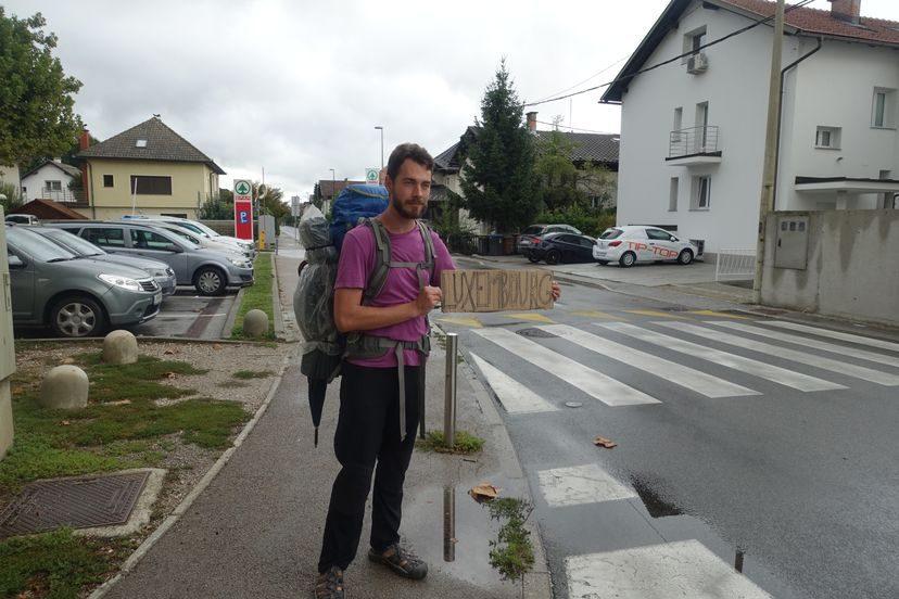автостопом в Люксембург из Бельгии
