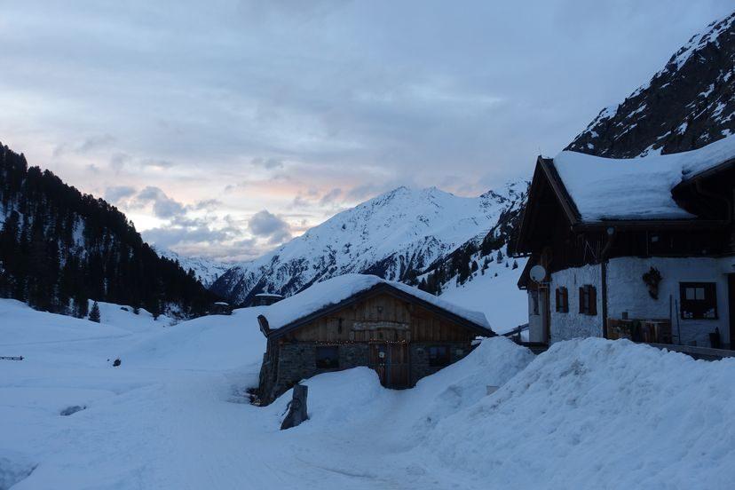 Сультцальм Альпы на закате
