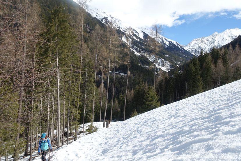 зимний маршрут в Альпах