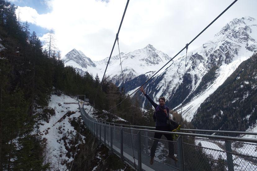 подвесной мост в Австрии