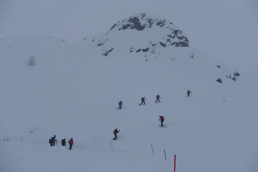 подготовка альпийских полицейских в Альпах