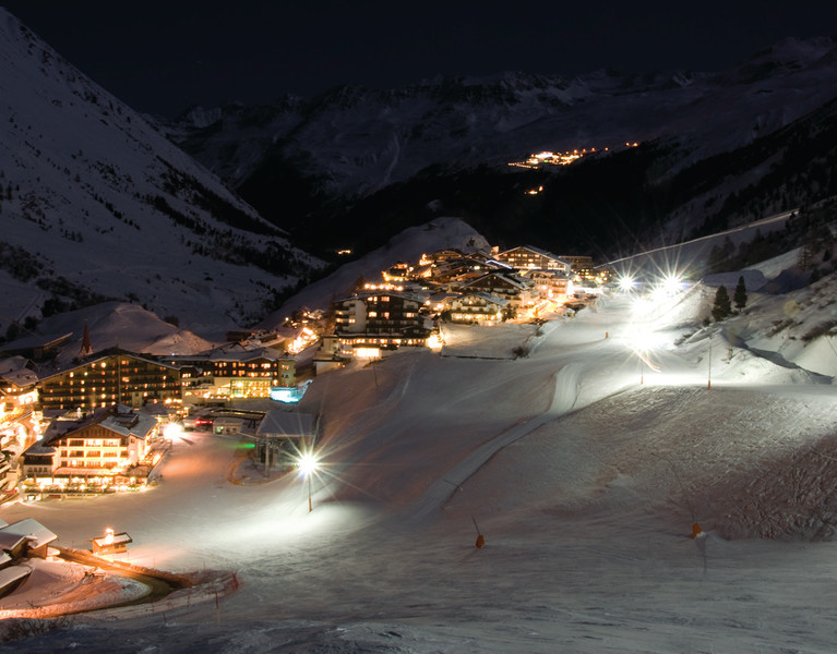 Obergurgl night skiing