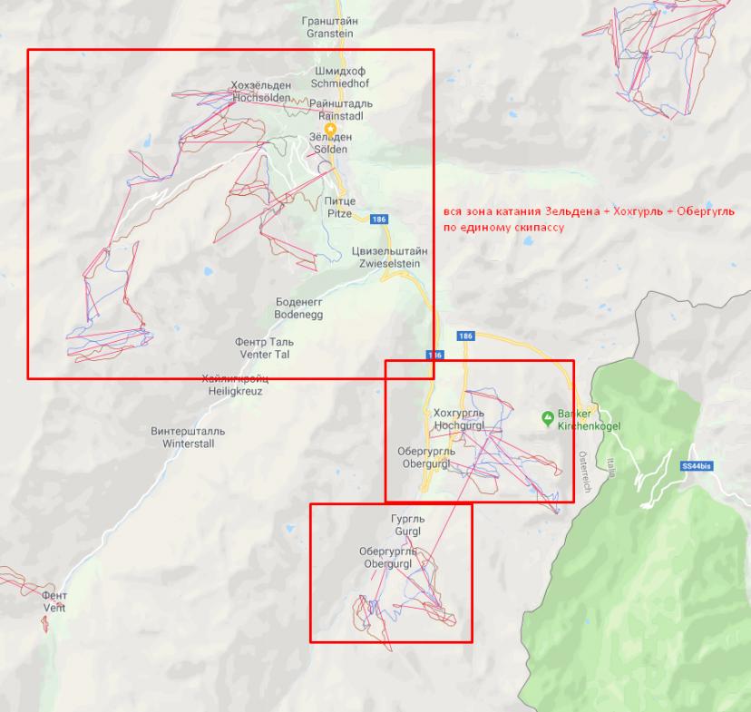 ski zone Selden + Hohgugrl + Obergugl