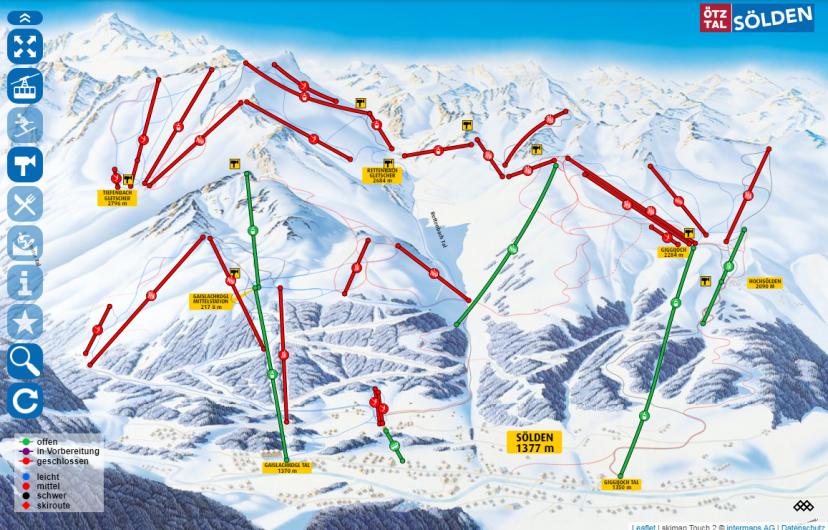 еще одна карта Ski Zone Soelden