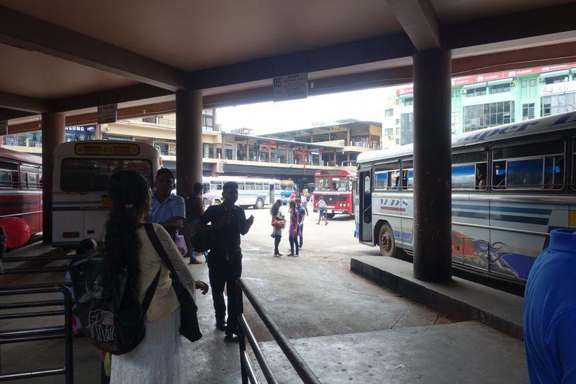 автостанция на Шри-Ланке