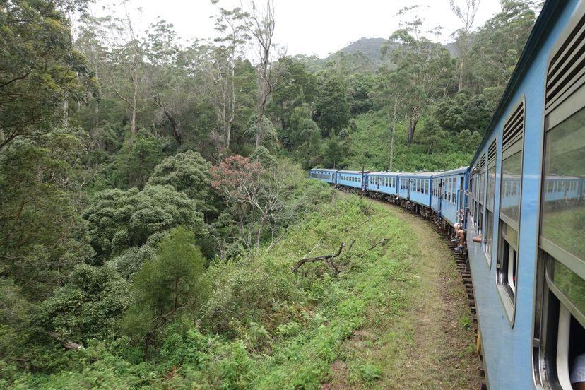 на поезде по Шри-Ланке