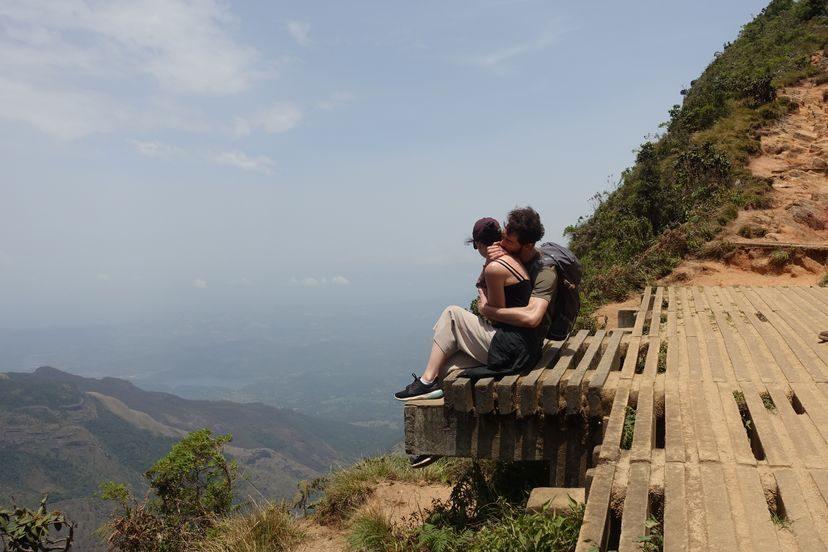 на вершине Конца Света на Шри-Ланке