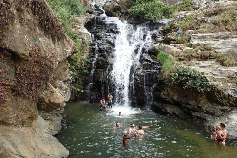 водопад на Шри-Ланке