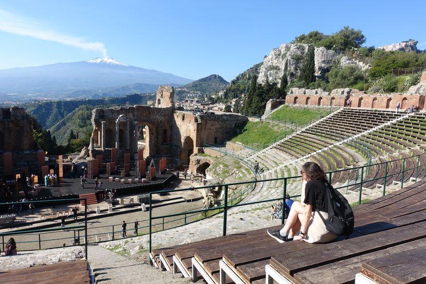 Таормина Сицилия - греческий амфитеатр
