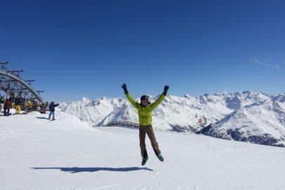Австрия Альпы горные лыжи