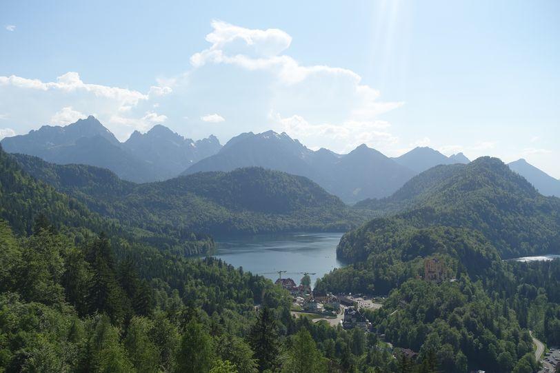горное озеро в Германии