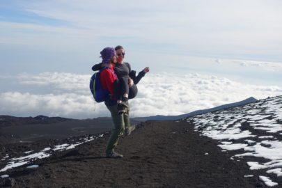 На вулкане Этна.