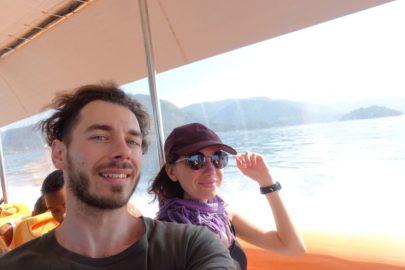 На лодке в Бразилии.
