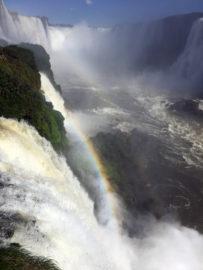 радуга на водопадах Игуасу