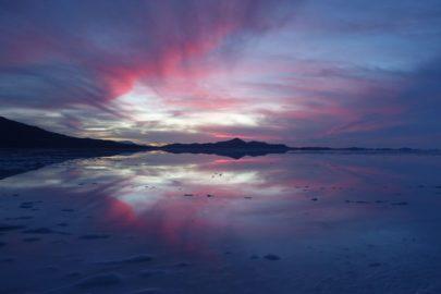 Закат Уюни Боливия.