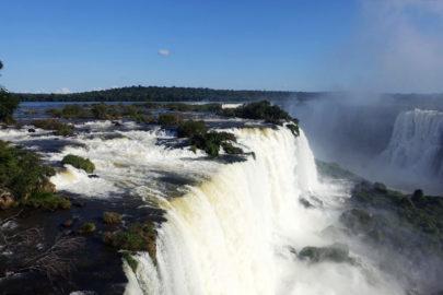 Водопад в Бразилии.
