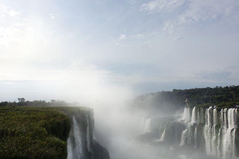 водопады Игуасу находятся в двух странах