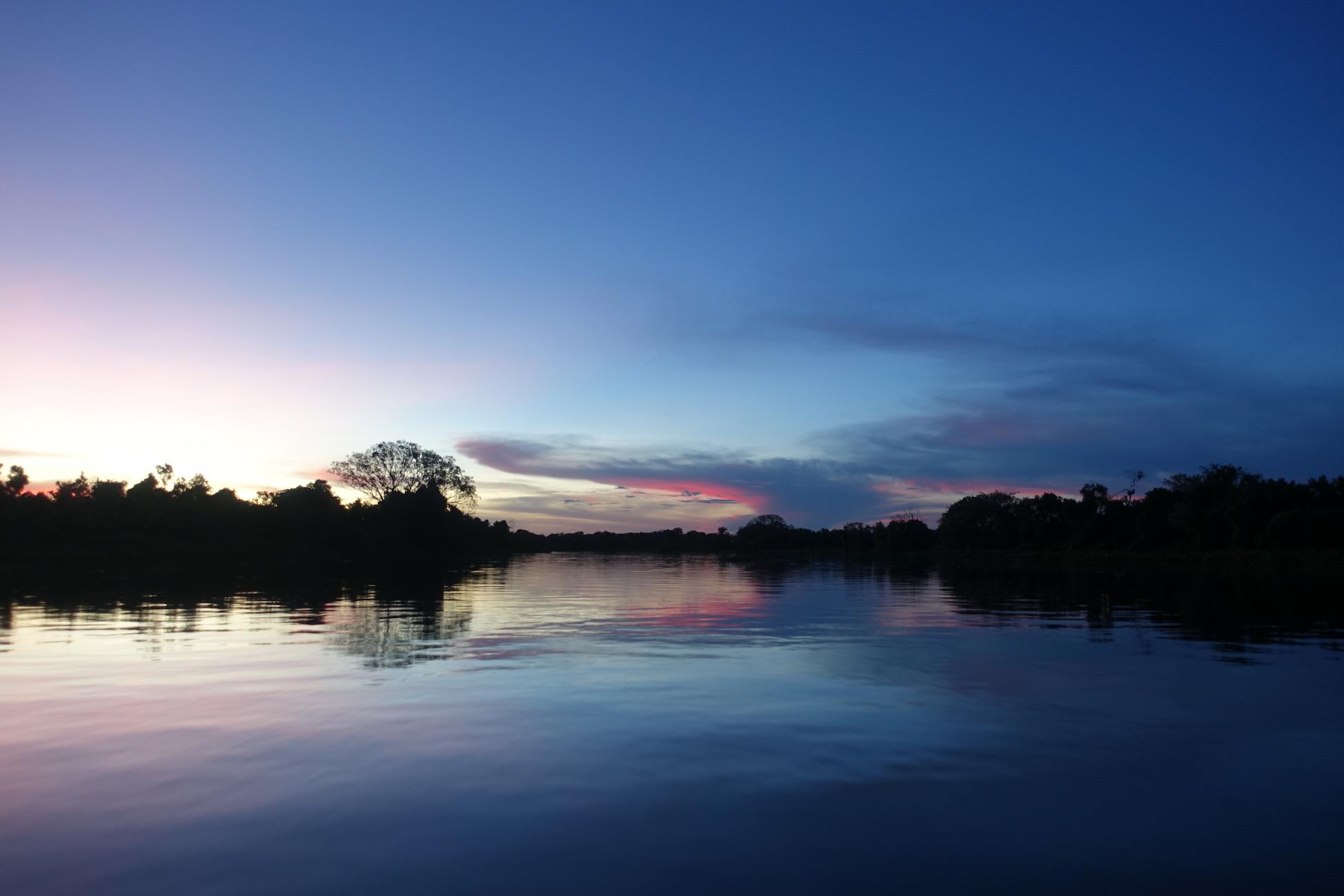потрясающий закат в Пантанале